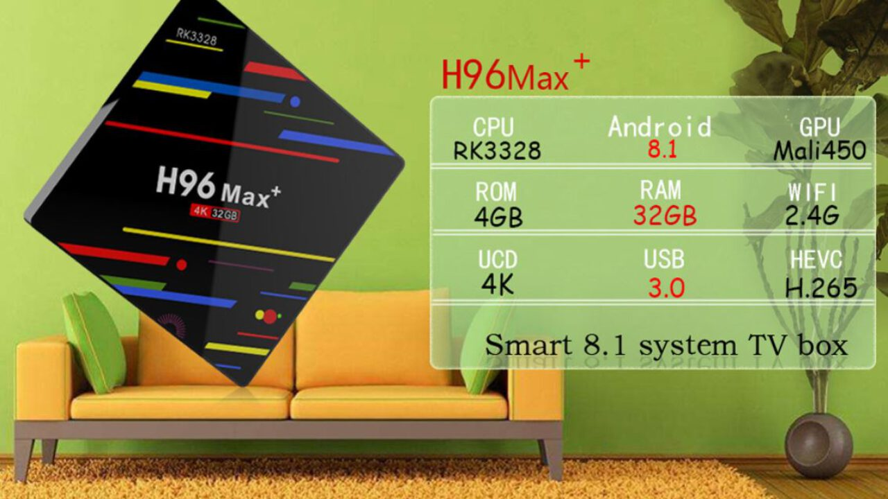 The new firmware for H96 MAX+ TV Box with RK3328 SoC